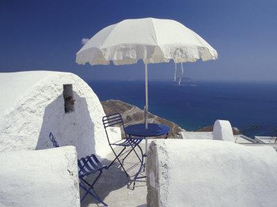 Terrace Overlooking Aegean Sea, Anafi, Cyclades Islands, Greece Photographic Print by Michele Molinari
