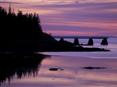Duck Harbor at Sunset, Isle Au Haut, Maine, USA Photographic Print by Jerry & Marcy Monkman