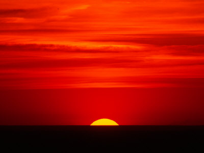 Sunset Over the Gulf of Mexico, Florida, USA Photographic Print by Charles Sleicher