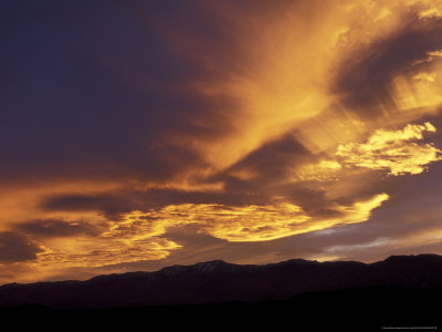 Clouds at Sunset from Artists Drive, Death Valley National Park, California, USA Photographic Print by Jamie & Judy Wild