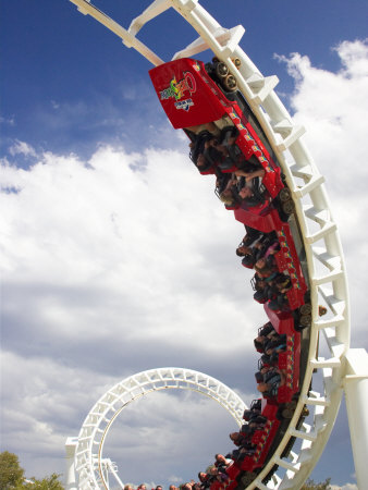 Rollercoaster, Sea World, Gold Coast, Queensland, Australia Photographic Print by David Wall