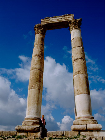 Corinthian Columns, Roman Temple and The Temple of Hercules, The Citadel, Amman, Jordan Photographic Print by Cindy Miller Hopkins