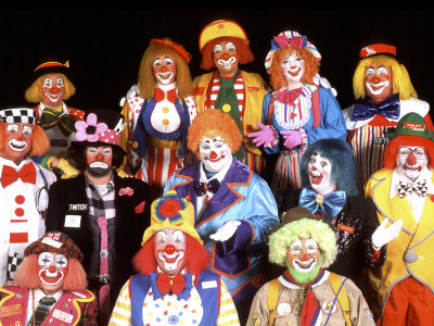 Group Portrait of Clowns Photographic Print by Bill Bachmann