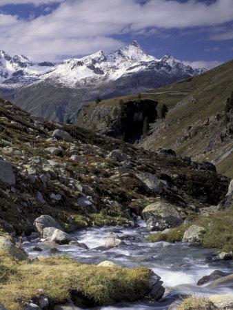 Mountain Range Panorama, Pontresina Region, Switzerland Lámina fotográfica por Art Wolfe