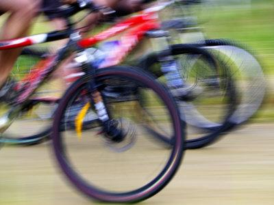 Mountain Bike Race, Bannockburn, near Cromwell, Central Otago, South Island, New Zealand Photographic Print by David Wall
