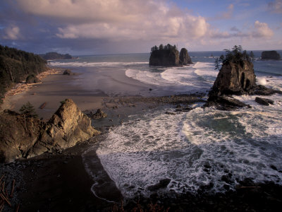 Second Beach, Olympic National Park, Washington, USA Photographic Print