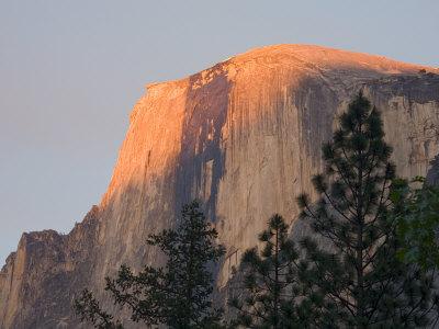 Sunset light on Half Dome. Yosemite National Park, CA Photographic Print by Jamie & Judy Wild