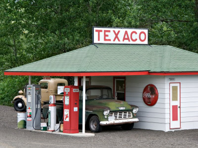 Replica of Old Texaco Station near St. John, Washington, USA Photographic Print by Charles Sleicher