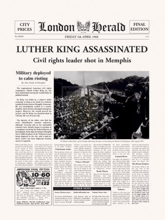 Luther King Assassinated Prints by  The Vintage Collection
