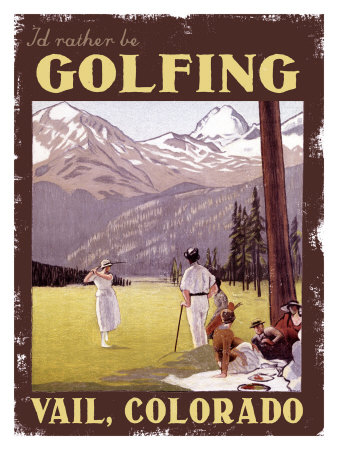 I'd Rather be Golfing Colorado Giclee Print