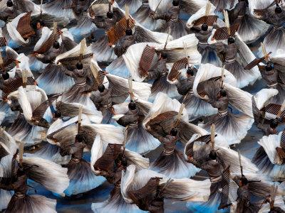 Beijing Olympics Opening Ceremony, Performers Dancing, Beijing, China Photographic Print