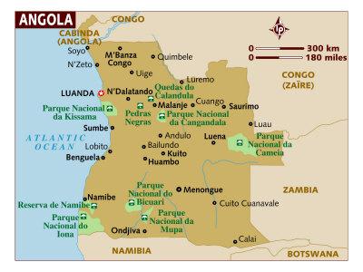 Angola Maps