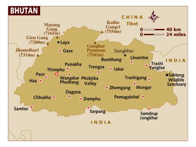 Bhutan Maps