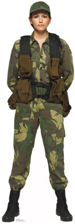 Female Solider Lifesize Standup Cardboard Cutouts