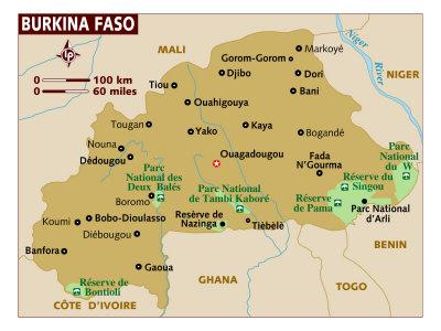Burkino Faso Map