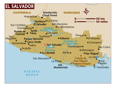 El Salvador Maps