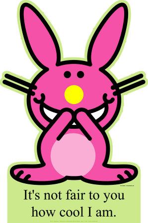 funny bunny. Happy Bunny - How Cool Am I?