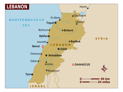 Lebanon Maps