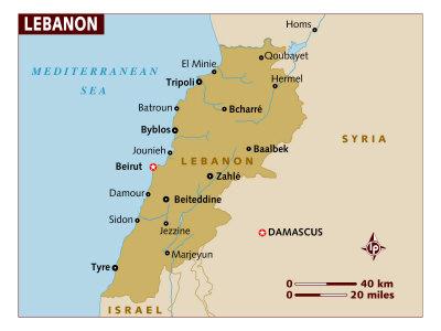 Lebanon Maps