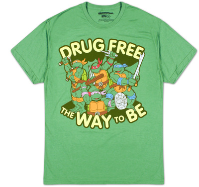 Teenage Mutant Ninja Turtles - Drug Free (Slim Fit) T-Shirt