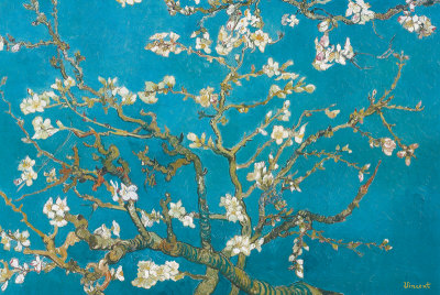 Almond branches art print by Van Gogh cubicle decor office decorating ideas for the modern office