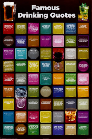 funny drinking quotes. Famous Drinking Quotes Poster