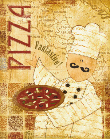 Pizza and Pasta I Art Print