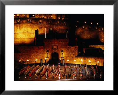 Military Tattoo Performed In Edinburgh Castle, Edinburgh, Scotland Framed Art Print