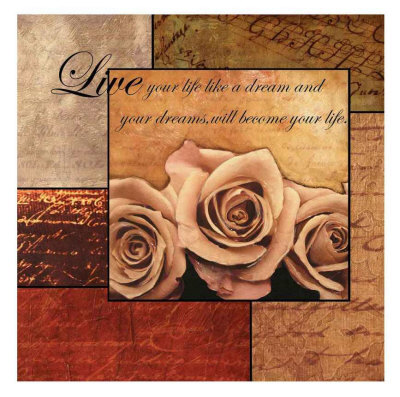 Romantic Roses Poster by Anne Courtland