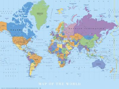 mapa mundial japon. Mapa mundi Lámina