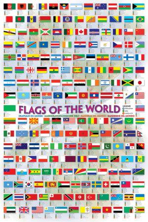Flags of the World 2008 Affischer