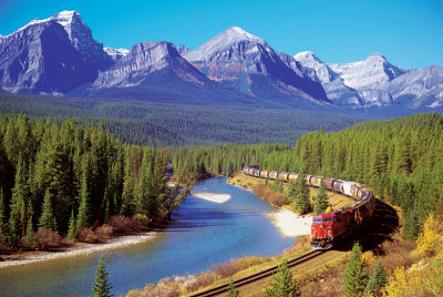 Train In The Rockies Affiche