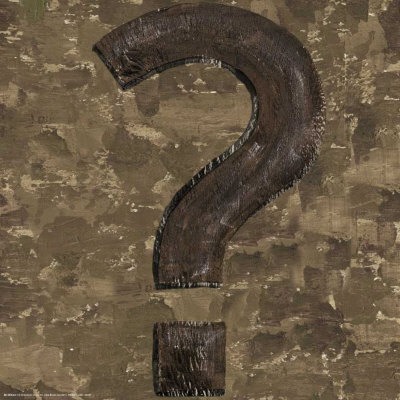 Typography: Question Mark Kunsttryk