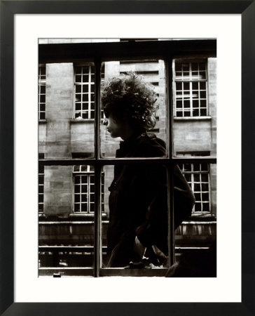 The One and Only Bob Dylan Walking Past a Shop Window in London, 1966 Framed Art Print
