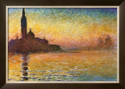 Sunset in Venice Poster by Claude Monet