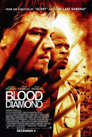 """Blood Diamond"" movie poster artwork starring Leonardo DiCaprio"