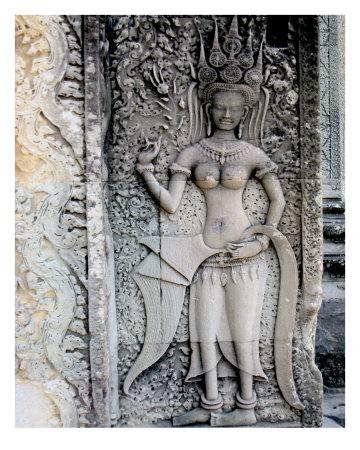 angkor wat temple. Stone Engraving, Angkor Wat
