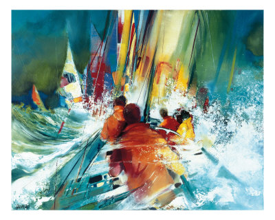 Peche En Haute Mer Posters by Max Laigneau