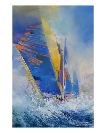 Voiles Bleues Posters by Max Laigneau
