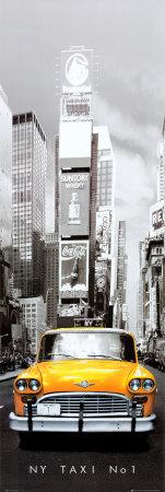 New York taxi č 1 Plakát na dveře