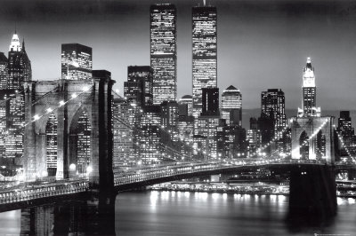 Manhattan la nuit, par Richard Berenholtz, photographe de New York Affiche