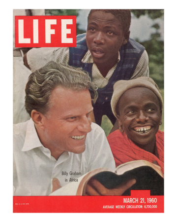 Billy Graham in Africa, March 21, 1960 Photographic Print by James Burke