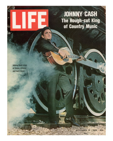 Singer Johnny Cash, November 21, 1969 Reproduction photographique sur papier de qualité