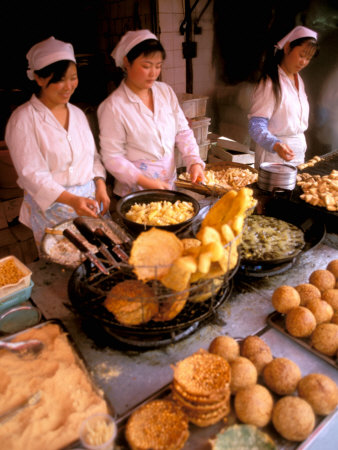 Street Vendors Cooking, Kunming, China Photographic Print by Bill Bachmann