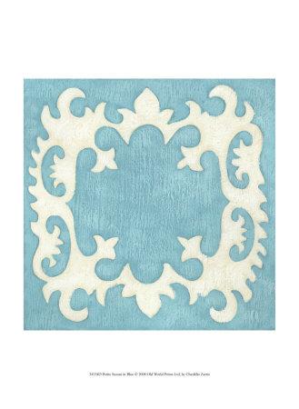 Petite Suzani in Blue Prints by Chariklia Zarris