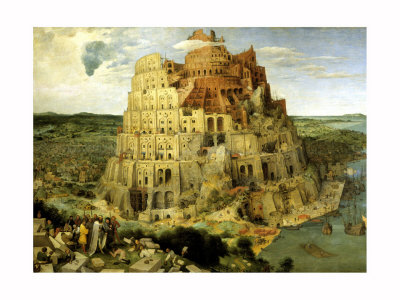 La Tour de Babel, vers 1563 reproduction procédé giclée