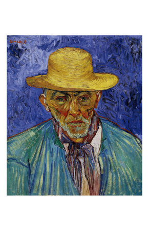 The Old Peasant Patience Escalier Art by Vincent van Gogh