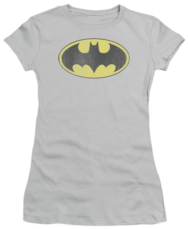 Juniors: DC Comics - Batman - Retro Logo Distressed T-Shirt