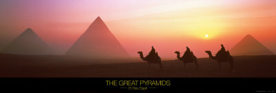 The Great Pyramids of Giza, Egypt Kunsttryk