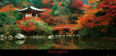 Daigo Shrine, Kyoto, Japan Kunsttryk
